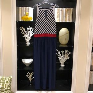 Ashley Stewart Dresses - 💋Red White & Blue Maxi Dress